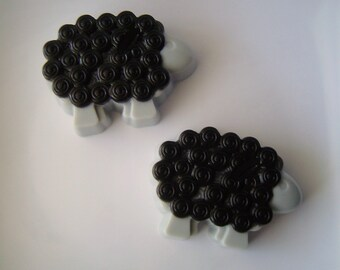Baa Black Sheep Soap - Goat Milk and Glycerin Soap - Black Licorice Scent - Gift - Party Favor - Shaped Soap - Novelty - Teen - Christmas