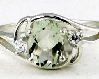 Green Amethyst, 925 Sterling Silver Ring, SR176