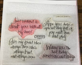 C1056 Curly Sentiments - CTMH My Acrylix Stamp Sets