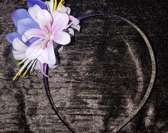 Metalic Tropical Floral Fairy Headband