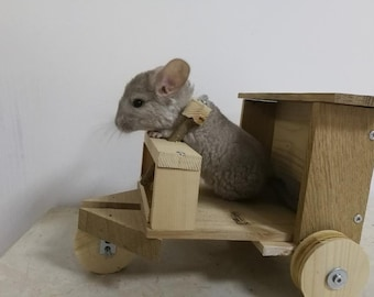 Custom Wooden Ledge (shelves) and cage accessories for Chinchilla, degu, rabbit