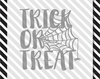 Halloween SVG Cut File - Trick or Treat svg - svg files for cricut - svg files for silhouette - svg - cut file - halloween svg