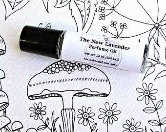 Lavender Perfume Oil - The New Lavender Perfume Oil - Fresh Perfume - Floral Perfume  - Handmade