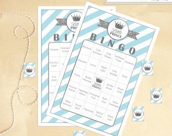 Baby Shower Bingo Includes 60 Little Prince Printable Bingo Cards - Instant Download