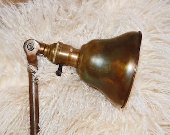 Industrial Chic Antique Clamp Lamp Rare