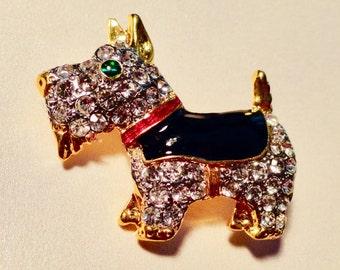 Terrier Dog. Terrier Pin. Scottie, Terrier, Black & Tan,  Small Dog, Dog Gift,  Dog Lover Gift.