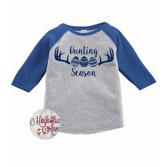 Hunting Season Easter Egg Shirt, Kids Easter Shirt , Toddler Easter Shirt, Egg Hunting Shirt, Easter Egg Shirt, Toddler Raglan, Kids Easter