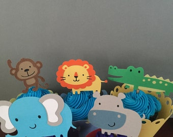 Jungle Themed Animals Cupcake Topper