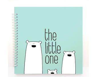 Polar bears book MINT - Baby Book, Baby Memory Book, Baby Shower Gift, Baby Journal, Baby Album, Keepsake