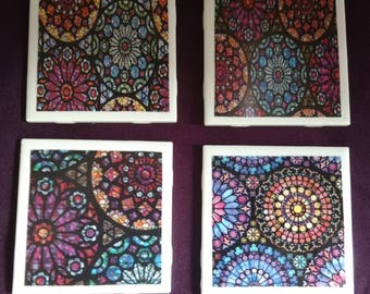 Stained Glass Design Coasters