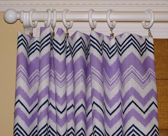 Items similar to Purple Curtains, Purple Chevron Curtains, Purple ...