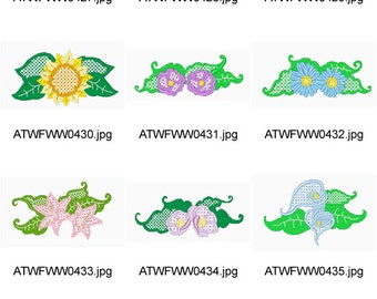 Jacobean-Lace-Flowers ( 10 Machine Embroidery Designs from ATW ) XYZ17B