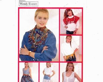 Butterick 4420 Bandana Fashion Accessories Sweatshirt Collar And Trim Scarf Skirt And Belt UNCUT