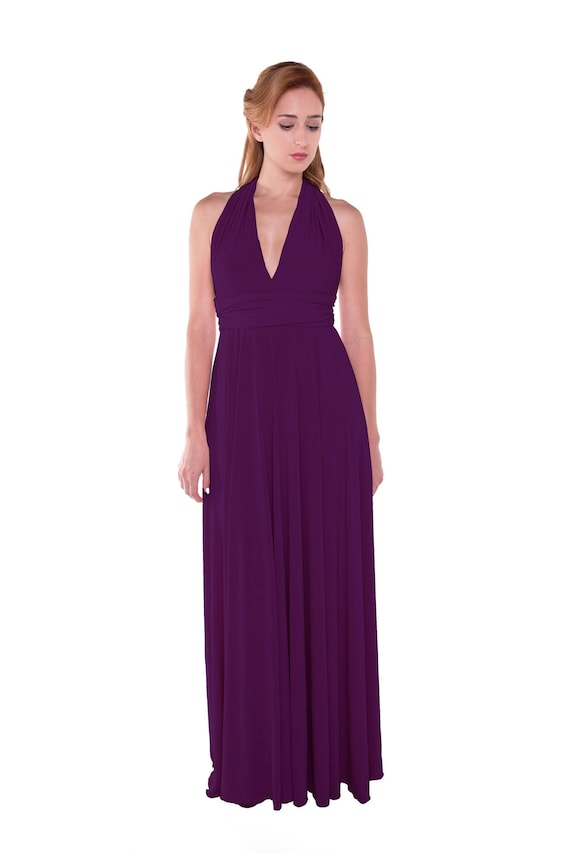 Vestido Morado Largo Vestido Infinity Convertible Formal