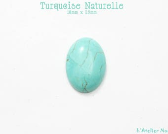Natural 18mm x 25mm oval Turquoise cabochon