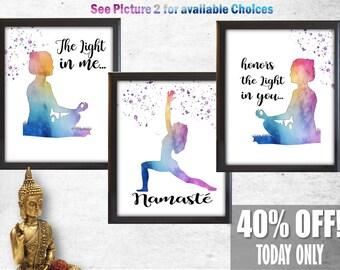 meditation guru giclee art print yoga meditating master mentor