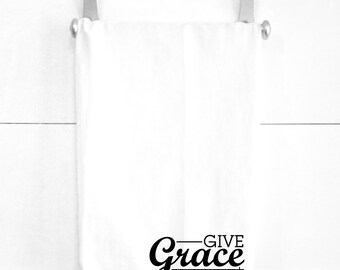 Give Grace Tea Towel Easter Dinner Decor Spiritual Religious Home Decorations