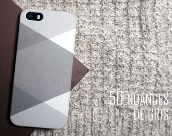 "Case for Iphone 5 / 5 S/SE or Iphone 6 / 6s ""50 shades of gray"""
