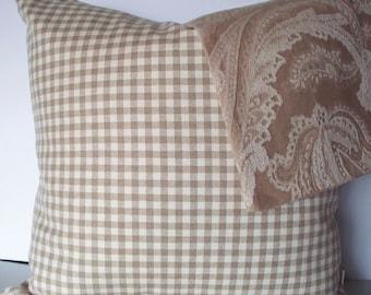 Tan Check Pillow Cover Ballard Designs Pillow Taupe Buffalo Check Pillow Cover Both Sides 0