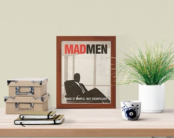 Mad Men; TV Show Inspired Small Poster, Don Draper, Mad Men Poster, Printable Poster, Minimalist Poster, Digital Download