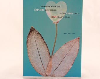 """NEW! Vintage Max Lucado """"God is Love"""" by Dayspring. Single Greeting Card with Envelope."""