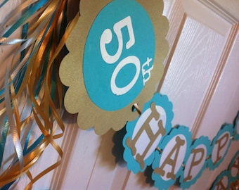 50th Birthday Decorations Personalization Available