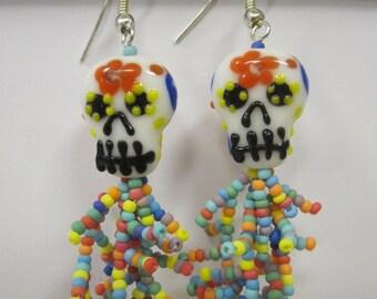Dia de las muertas (skull)  earrings