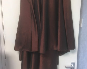 Bronze Shimmer Fabric - High Low Skirt - Easily fits size 16 - 18,