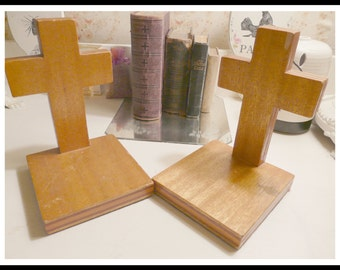 Good Lovely Pair Of Vintage Cross Bookends Idea