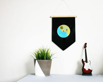 Music Home Decoration | Record Pennant Flag | Wall Hanging