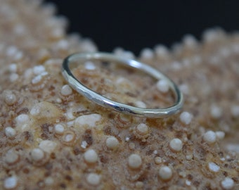Stacking Rings Handcrafted from Argentium Silver Hypoallergenic and Tarnish Resistant Choose Your Size