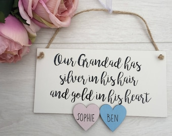 Grandad gift,  Father's Day gift for dad, personalised grandad gift, dad sign, Father's Day card, grandkids gift, grandad plaque