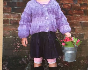 Girls Chunky Cardigan Knitting Pattern, Stylecraft Knitting Pattern, Childrens Textured Cardigan, Girls Cardigan Pattern, Stylecraft No 8409