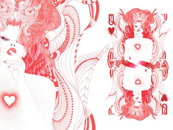 The Queen of Hearts // Limited edition art print