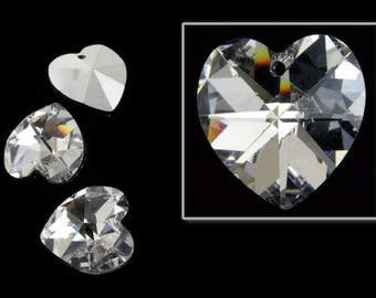 14.4mm x 14mm Swarovski 6202 Crystal CAL Heart Drop