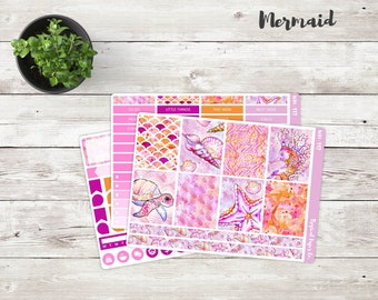 Mermaid Mini Weekly Kit | Mini Kit | Weekly Stickers | Weekly Planner Stickers Kit
