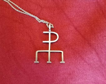 Hieroglyph pendant sterling silver