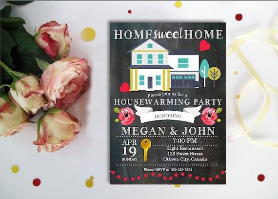 Einweihungsparty Einladung. Süßes Haus neues Haus laden