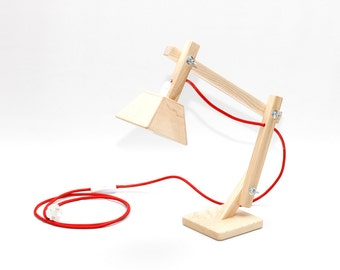Table lamp DL008-1 with fabric cord