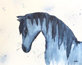 Original watercolor painting 11 x 14 custom MUSTANG 140 lbs watercolor paper