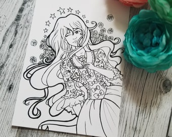 Carnaval Postcard Coloring Page