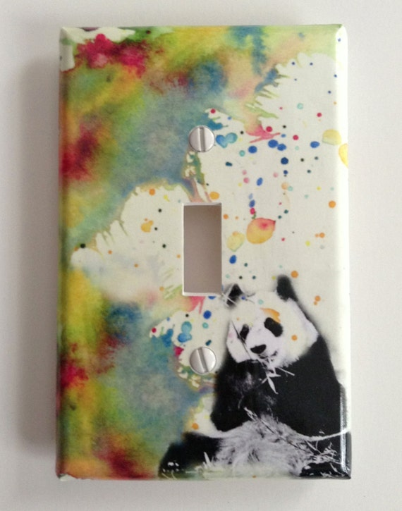 Panda Bear Decorative Light Switch Cover Great Kids Room Decor