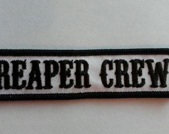 FREE Shipping*** Sons of Anarchy REAPER CREW Biker Patch ~ New!!!!