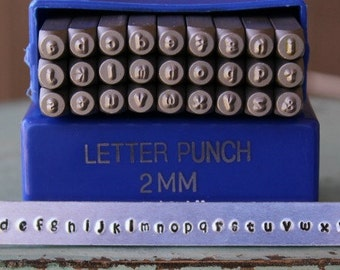2mm Kristen - Playground Font Lowercase Metal Alphabet Letter Stamp Set - Metal Letter Stamps-Metal Stamping and Jewelry Tool - SGE-11L