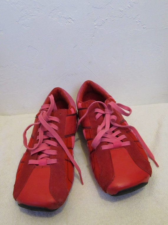 By DIESEL Red Sneakers amp; Suede 10US RAD RETRO Women's Leather 41Euro Vintage yxtwUCztq8