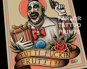 Captain Spaulding Tattoo Flash Art Print