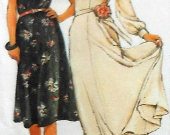 Vintage Dress Sewing Pattern UNCUT Simplicity 9284 Size 12