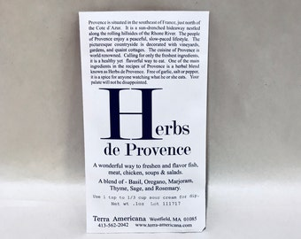 Herbs de Provence - Seed Style Packet Envelope