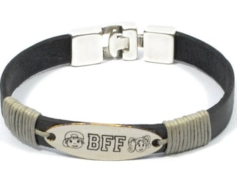 bff bracelet, best friends bracelet, best friends jewery, personalized engraved bracelet, soul sisters bracelet, best friends gifts