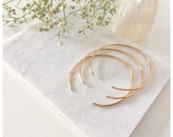 Hammered Stacking Cuff Bracelet, Bangle Bracelet, Cuff Bracelet,Gold Cuff Bracelet ,14k Gold Filled or Sterling Silver